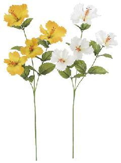 ブライダル用造花(トロピカルハイビスカス・全長8〜9cm)FLS5135