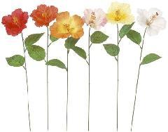 ブライダル用造花(ハイビスカス・花径12cm・ホワイト)FLS675