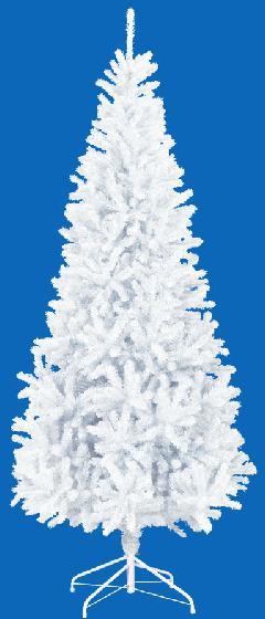 卸販売業務用クリスマスツリー(スリム・ホワイトh240・幅115cm)TXM2041