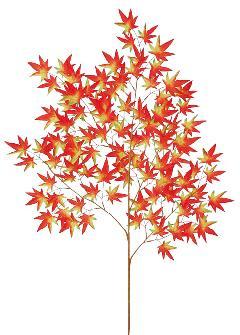 もみじ枝(大・全長110cm・レッド/オレンジ/グリーン)LES5161L
