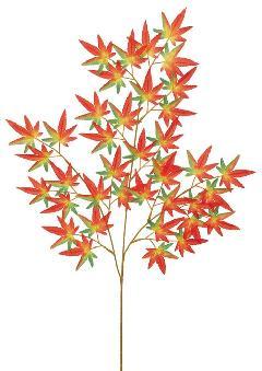 もみじ枝(中・全長74cm・レッド/オレンジ/グリーン)LES679