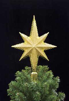 クリスマスツリートップスター(30cmスリム・グリッター)DE1304