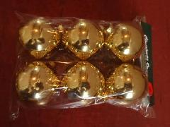 在庫処分特価メッキボール�H(60mmゴールド6ケ)