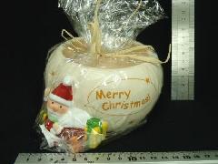 卸販売クリスマス雑貨(メリークリスマスラウンドポット・陶器製・2種6個入り)