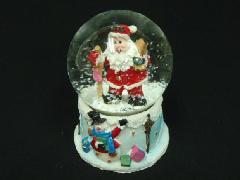 卸販売クリスマス雑貨(スノードーム・ホーリーサンタ・6個入り)