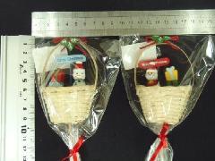 卸販売クリスマス雑貨(バスケットピック・2種12個入り)XM543