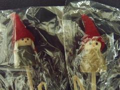 卸販売クリスマス雑貨(ミニチュアコビトピック・2種12個入り)MB2966