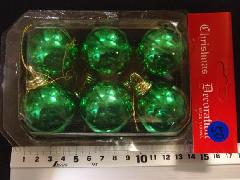 在庫処分スペシャル特価メッキボール50(40mmグリーン・6ケ)