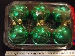 在庫処分スペシャル特価メッキボール52(70mmグリーン・6ケ)