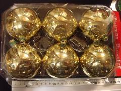 在庫処分スペシャル特価メッキボール53(80mmゴールド・6ケ)