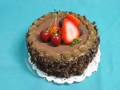 食品サンプルデザート(150mmチョコレートケーキホール)フォーム素材VF1117