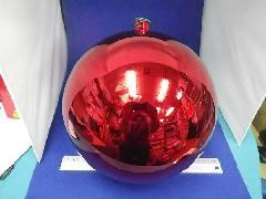 在庫処分特価(多少擦れ有り)25cmメッキボール(レッド)