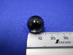 ビー玉・ガラス玉ブラックマーブル約15mm