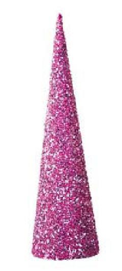 60cmレーザーメタリックビーズコーン(ピンク)DICO6982