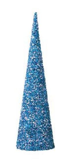 60cmレーザーメタリックビーズコーン(ブルー)DICO6982
