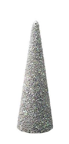 45cmスパンコールビーズコーン(シルバー)DICO6990