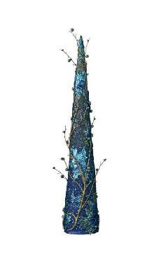 90cmツートンスパンコールビーズツイグコーン(ブルー)DICO6997