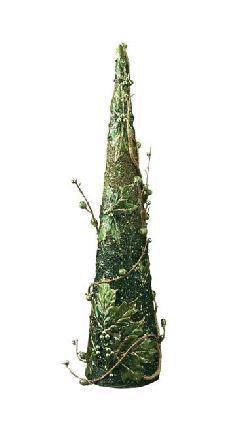60cmツートンスパンコールビーズツイグコーン(グリーン)DICO6998