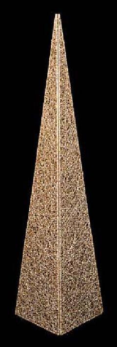 60cmグリッターワイヤーメッシュピラミッド(ゴールド)DIWI6807
