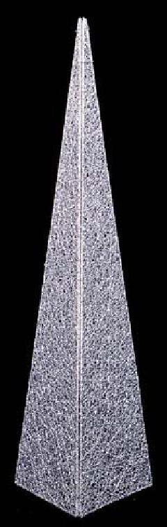 60cmグリッターワイヤーメッシュピラミッド(シルバー)DIWI6807