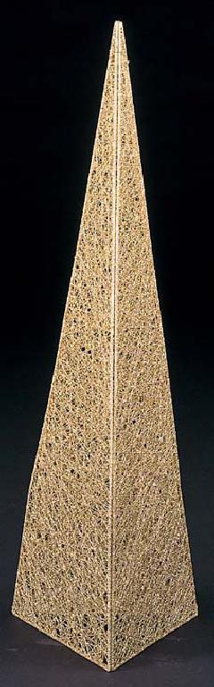 90cmグリッターワイヤーメッシュピラミッド(ゴールド)DIWI6809