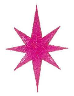 60cm立体クリアカラースター(ピンク)DISR61002