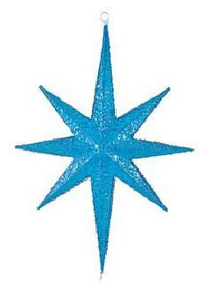 60cm立体クリアカラースター(ブルー)DISR61002