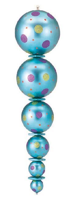 105cmカラーフィニアル(ブルー)DIFN6833