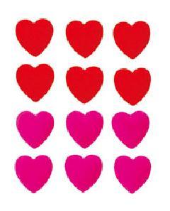 バレンタイン(6cmフロックハート6個セット・ピンク)DIHE9412
