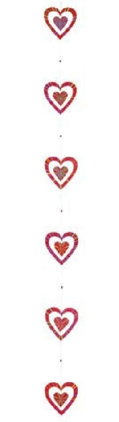 バレンタイン(180cmクリアレッドダブルハート)DIHA9002