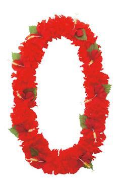 造花フラワーレイ(ハイビスカス・レッド)FLE7012コンビニ後払いの場合有り