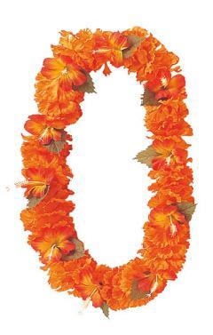 造花フラワーレイ(ハイビスカス・オレンジFLE7012)コンビニ後払いの場合有り