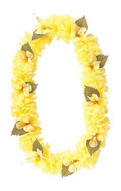 造花フラワーレイ(ハイビスカス・イエローFLE7012)コンビニ後払いの場合有り