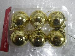 在庫処分特価メッキボール�P(40mmゴールド6ケ)