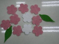 フェルト桜花(12枚入り1枚約10cm)SPST3413