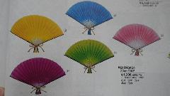 正月飾り30cm色扇子飾り不織布製(1個)DIFN8454