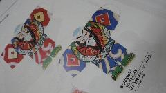 手漉き和紙奴凧2枚セット(全長60cm)DIKI8867