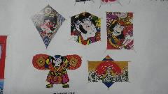 手すき和紙小凧5枚セット(全長20cm)DIKI8475