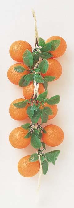 オレンジストリング全長約60cm塩ビ製VF0107