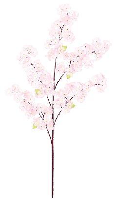 造花桜枝(吉野桜・全長105cm・花径5cm6本)FLS5311