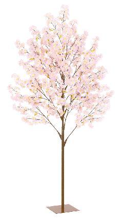 造花桜ツリースタンド(270cm)FLT2003(L)