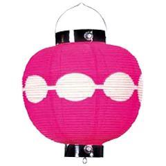 桜色団子尺丸提灯(全長38cm直径28cm和紙製)DILA1633