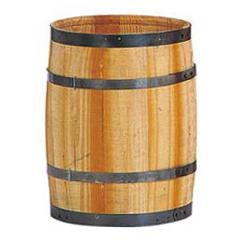 ディスプレイ用木製樽・タル(S・全長35・直径25cm)PABO7487