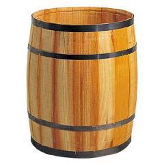 ディスプレイ用木製樽・タル(M・全長50・直径40cm)PABO7487