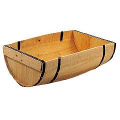 ディスプレイ用木製半割樽・タル(L・全高20・幅65×40cm)PABO7533