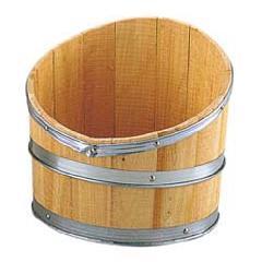 ディスプレイ用木製斜切樽・タル(M・全長40・幅35cm)PABO7519