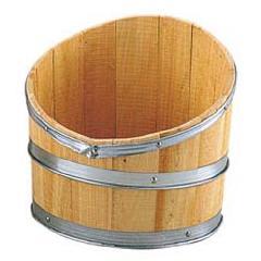 ディスプレイ用木製斜切樽・タル(L・全長45・幅40cm)PABO7519