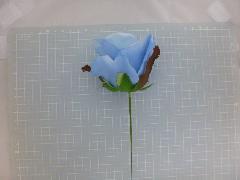ミシェルローズピック(ソフトブルー)花径約8・全長約21cmFLP6014
