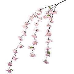 卸販売造花桜(しだれ桜枝・全長120cm花径5cm・3本入り)FLSP1621他商品同送不可
