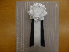 弔用葬儀胸花(4号10cm12個入り)白黒タレ